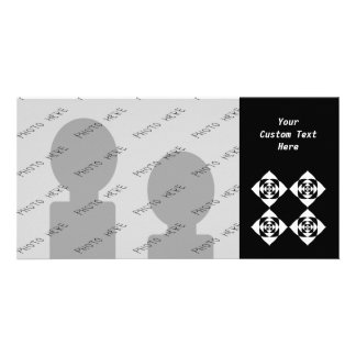 Black and White Floral Design. Picture Card
