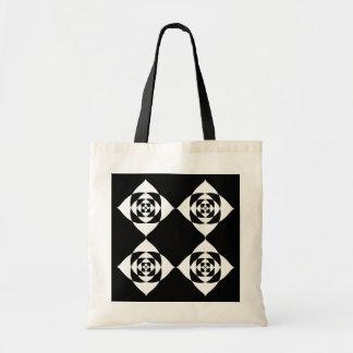 Black and White Floral Design. Tote Bag