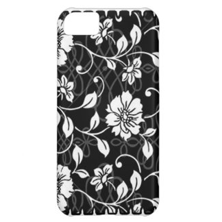 Black and White Floral iPhone Cover