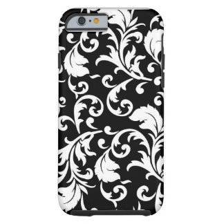 black and white floral pattern case