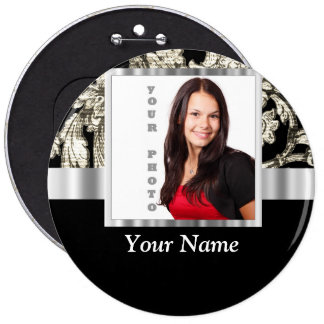 black and white floral photo template pin