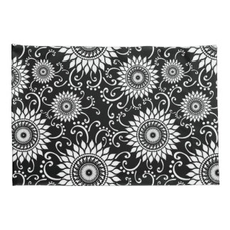 Black and White Floral Pillow Cases Pillowcase