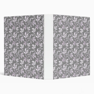 Black And White Floral Print 3 Ring Binders