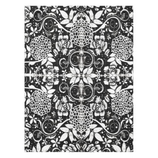 Black and White Floral Tablecloth