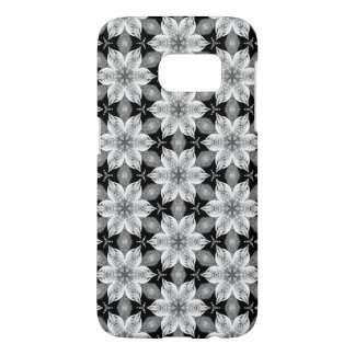 Black and white flower Android case