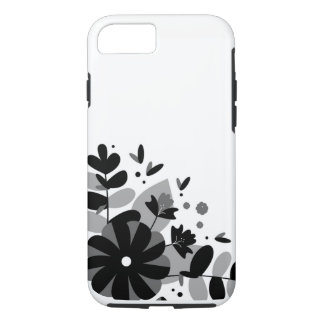 Black and White Flower Design Apple iPhone 7 case