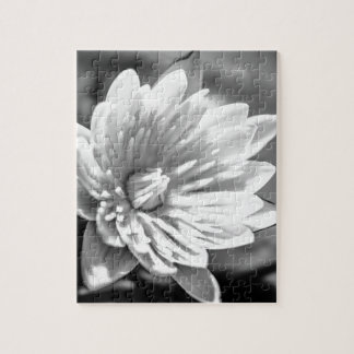 Black and White Flower Jigsaw Puzzle