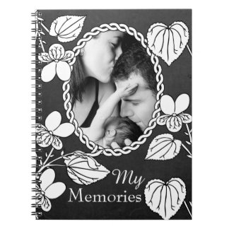 Black and White Flower Notebook