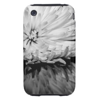 Black and White Flower Photo Tough iPhone 3 Cover