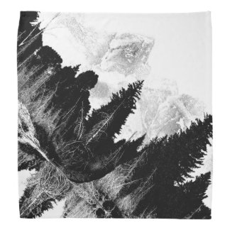 Black and White forest Bandana