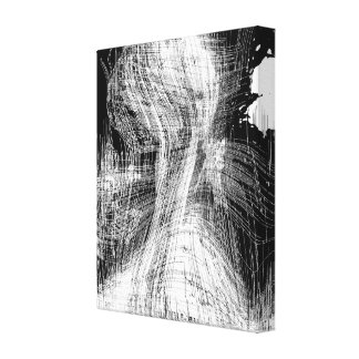 Black And White Forms Abstract Expressionism Art Canvas Print