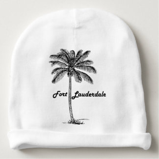 Black and White Fort Lauderdale & Palm design Baby Beanie