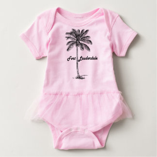 Black and White Fort Lauderdale & Palm design Baby Bodysuit