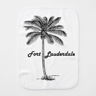 Black and White Fort Lauderdale & Palm design Baby Burp Cloths