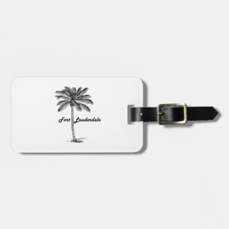Black and White Fort Lauderdale & Palm design Bag Tag