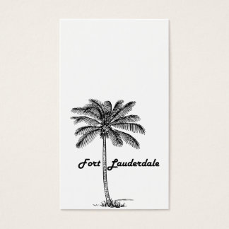 Black and White Fort Lauderdale & Palm design Business Card