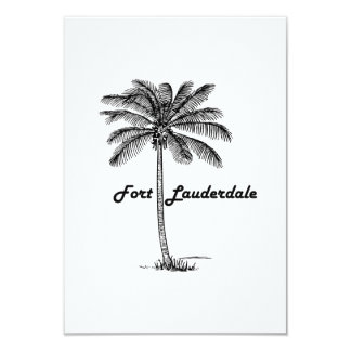 Black and White Fort Lauderdale & Palm design Card