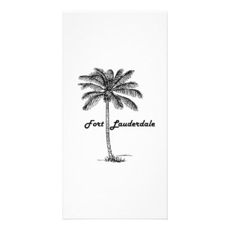 Black and White Fort Lauderdale & Palm design Customized Photo Card