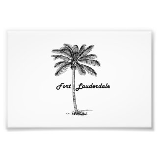 Black and White Fort Lauderdale & Palm design Photograph