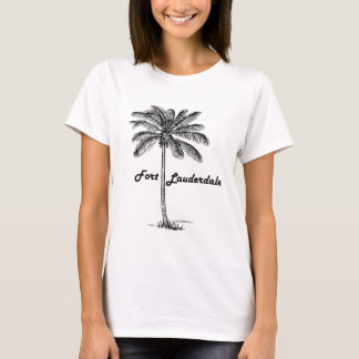 Black and White Fort Lauderdale & Palm design T-Shirt