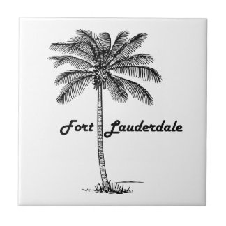 Black and White Fort Lauderdale & Palm design Tiles