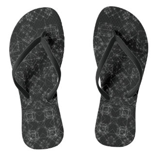 Black and white fractal art Flip Flops, Math art Flip Flops