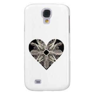 Black and White Fractal Art Heart Shape