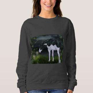 Black and White Frame Overo Paint Horse Sweatshirt