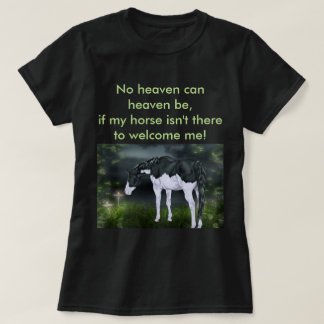 Black and White Frame Overo Paint Horse T-Shirt