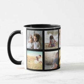 Black and white framed pictures mug