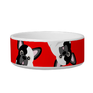 Black and White French Bulldog Cute Frenchie Pup Bowl
