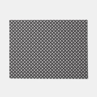 Black and White French Fleur De Lis Design Doormat
