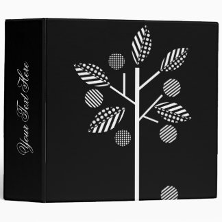Black And White Fruit Trees Binders
