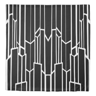 Black and White Geo Cascade Duvet Cover