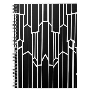 Black and White Geo Cascade Notebook