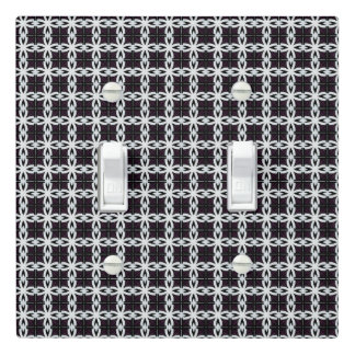 black and white geometric abstract design light switch cover