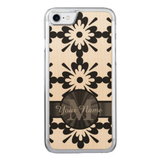 Black and white geometric carved iPhone 7 case