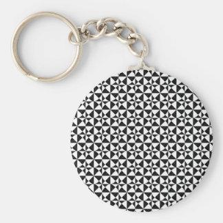 Black And White Geometric iIllusion Keychain