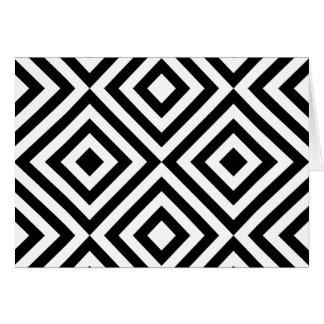 Black and White Geometric Line Pattern Card