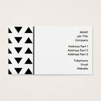 Black and White Geometric Pattern of Triangles. Business Card