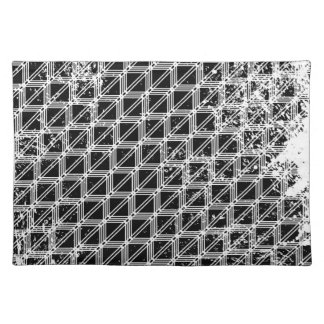 Black And White Geometric Pattern Placemat