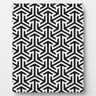 Black and White Geometric Pattern Plaque
