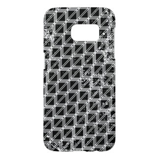 Black And White Geometric Pattern Samsung Galaxy S7 Case