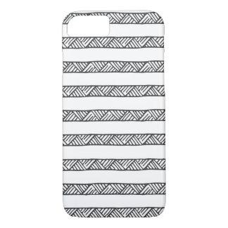 Black and White Geometric Stripes iPhone 7 Case