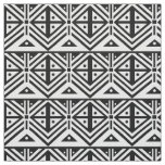Black and White Geometric Tribal Pattern Fabric