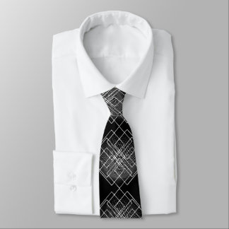 Black And White Geometrical Tie