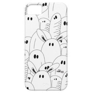 Black and white ghost iPhone 5 covers