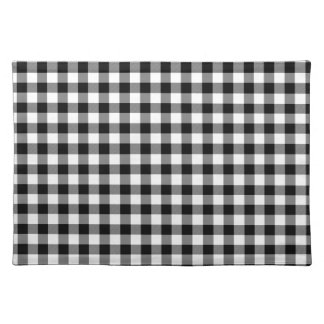 Black and White Gingham Checks Placemat