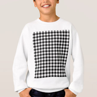 Black and White Gingham Checks Sweatshirt