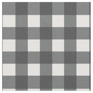 Black and White Gingham Fabric